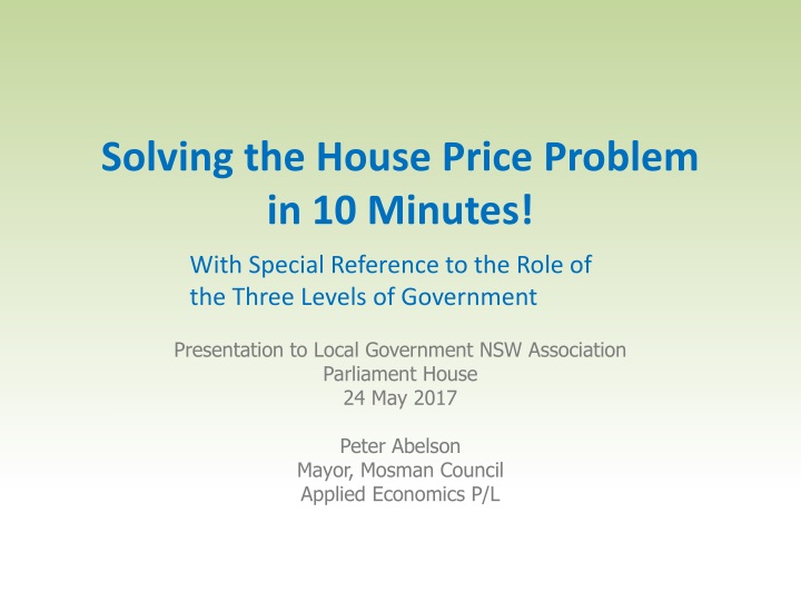 solving the house price problem in 10 minutes n.
